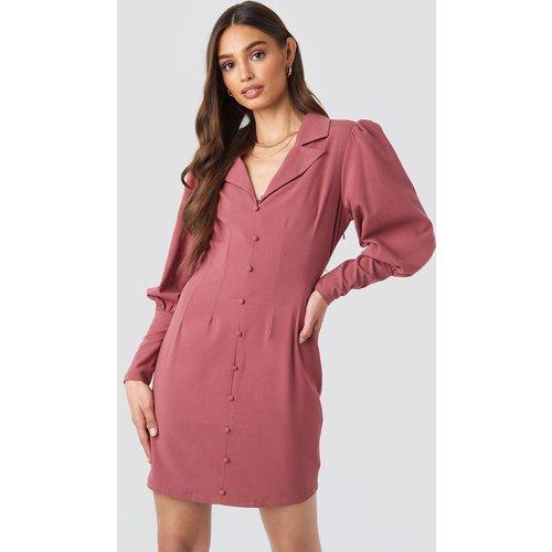 Button Front Mini Dress - Pink - NA-KD Trend - Modalova