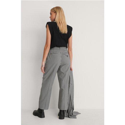 Check Cropped Pants - Multicolor - NA-KD Classic - Modalova