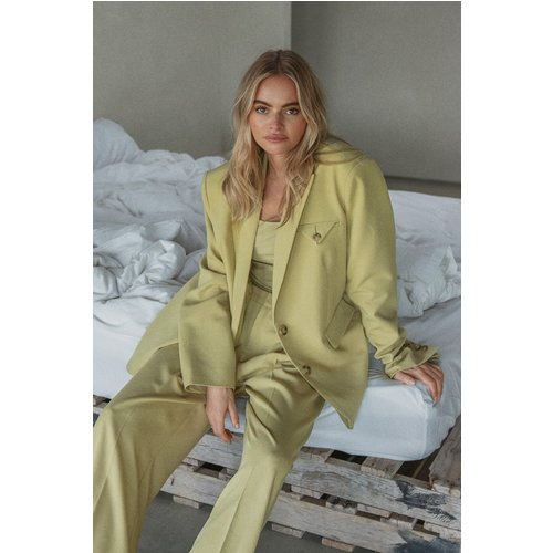 Pantalon De Costume Surdimensionné - Green - Claire Rose x NA-KD - Modalova