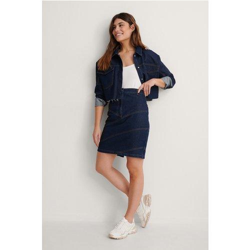 Seam Detail Midi Denim Skirt - Blue - NA-KD Trend - Modalova