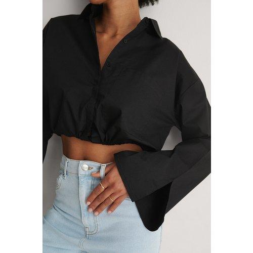 Cordon Chemise Courte - Black - Khaoula x NA-KD - Modalova