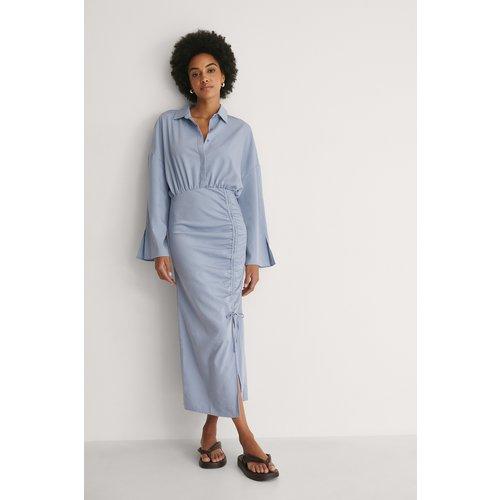 Robe Avec Cordon De Serrage - Blue - Khaoula x NA-KD - Modalova