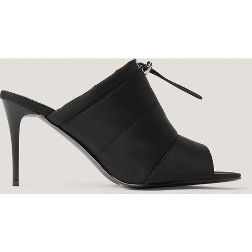 Chaussures Pointues À Talon, Bout Ouvert Et Cordon - Black - NA-KD Shoes - Modalova