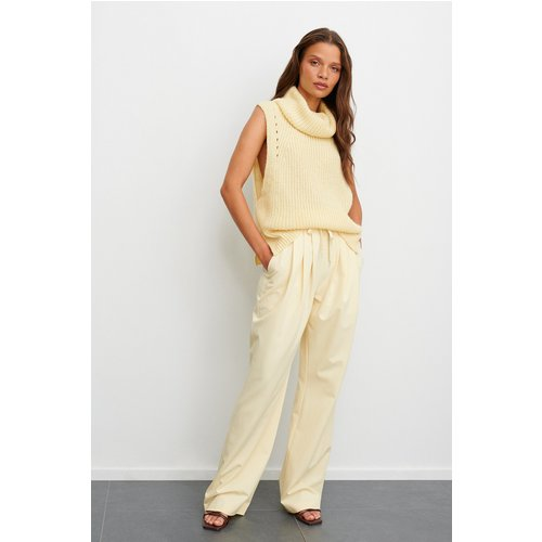 Pantalon De Costume Taille Élastique - Offwhite - Claire Rose x NA-KD - Modalova