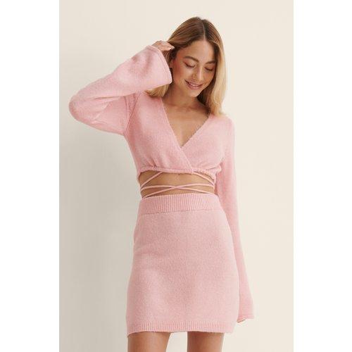 Écharpe Délavée En Maille - Pink - NA-KD Trend - Modalova
