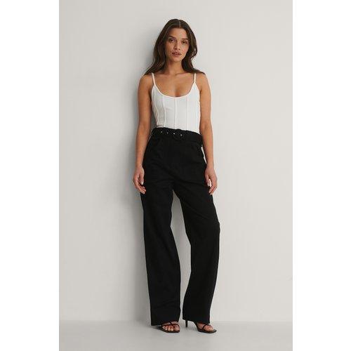 Pantalon De Costume À Poche - Black - Isha Van Dijk x NA-KD - Modalova