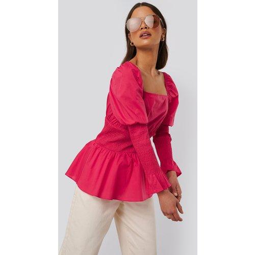 Chemisier En Coton Froncé - Pink - NA-KD Trend - Modalova