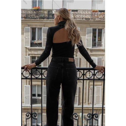 High Neck Cut Out Top - Black - Claire Rose x NA-KD - Modalova