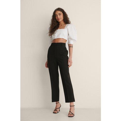 Pantalon De Costume Court Taille Haute - Black - NA-KD Classic - Modalova