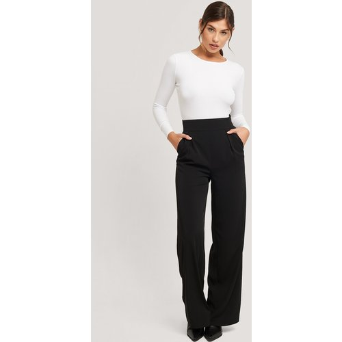 High Waisted Wide Leg Suit Pants - Black - NA-KD Classic - Modalova