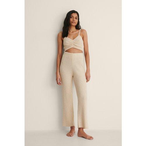 Pantalon Court En Maille - Beige - NA-KD Trend - Modalova