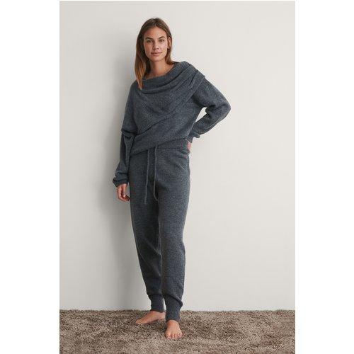 Pantalon De Survêtement Taille Haute En Maille - Grey - NA-KD - Modalova