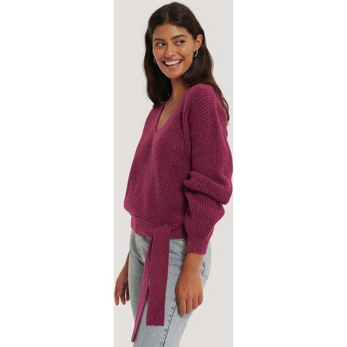 Knot Detail Knitted Sweater - Purple - Kristin Rödin x NA-KD - Modalova