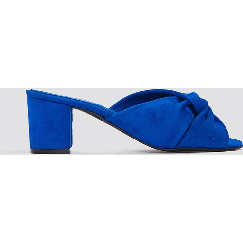 NA-KD Shoes Knot Mule Heels - Blue - NA-KD Shoes - Modalova