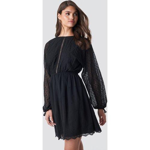 Lace-Up Back Mini Dress - Black - NA-KD Boho - Modalova