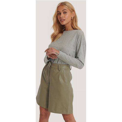 Long Sleeve Basic Top - Grey - NA-KD Basic - Modalova