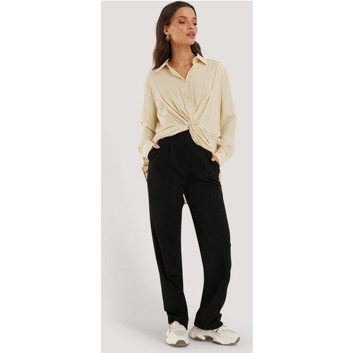 Pantalon Droit Taille Mi-Haute - Black - NA-KD Classic - Modalova