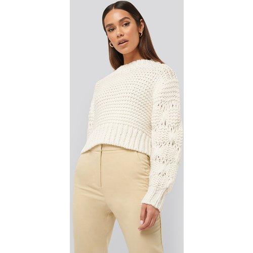 Bubble Sleeve Knitted Sweater - White - Misslisibell x NA-KD - Modalova