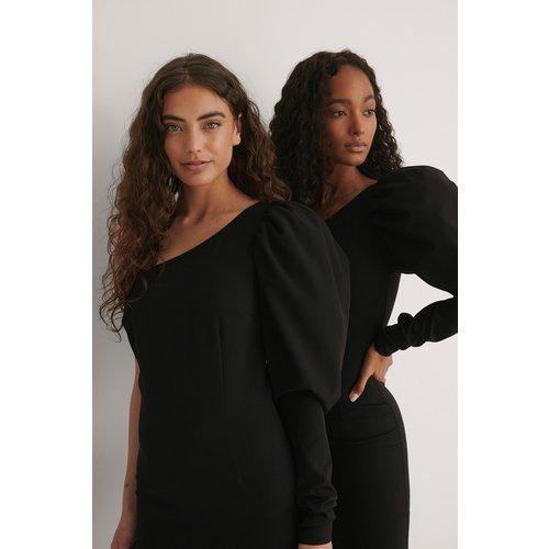Robe Une Épaule - Black - NA-KD by YOU - Modalova