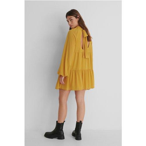 Recyclée Robe Dos Nu - Yellow - The Fashion Fraction x NA-KD - Modalova