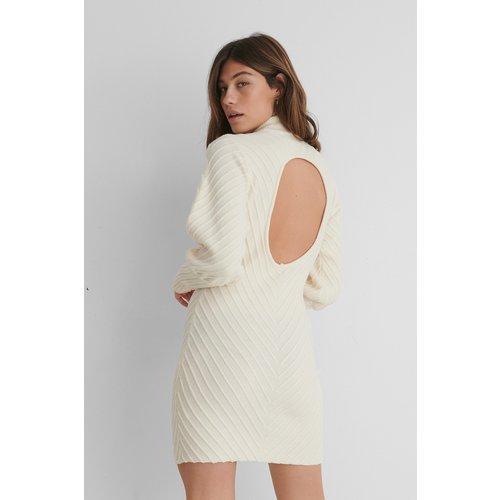 Recyclée Robe Dos Nu En Tricot À Motifs - Offwhite - The Fashion Fraction x NA-KD - Modalova