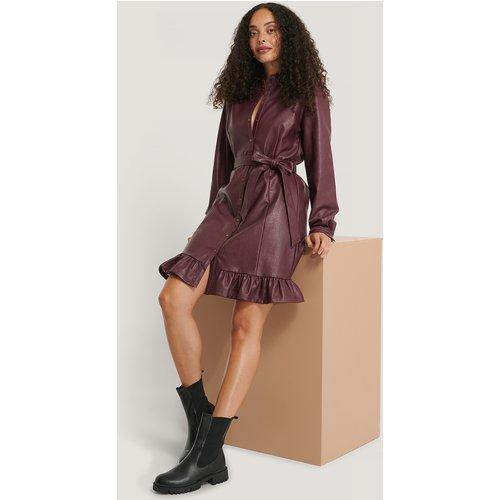 Robe Faux Cuir - Burgundy - NA-KD Trend - Modalova