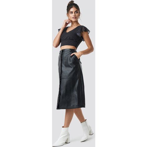 NA-KD Trend PU Midi Skirt - Black - NA-KD Trend - Modalova