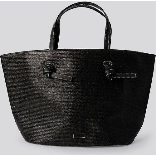 Raffia Basket Tote - Black - NA-KD Accessories - Modalova