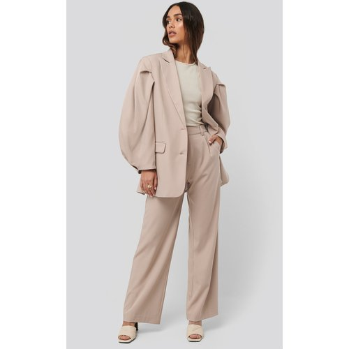 Relaxed Fit Suit Pants - Beige - NA-KD Classic - Modalova