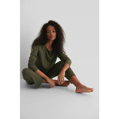 Pantalon Côtelé - Green - NA-KD Basic - Modalova