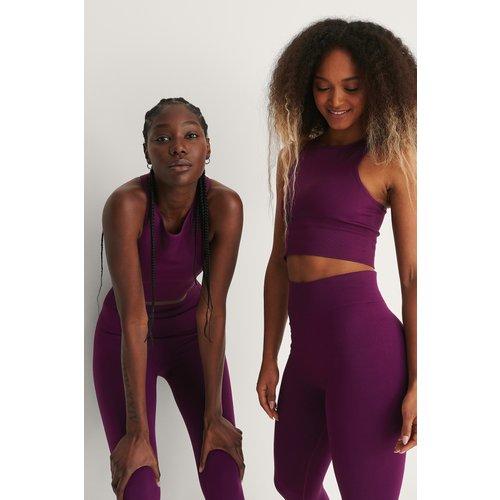 Recyclé Débardeur Sans Couture - Purple - NA-KD Flow - Modalova