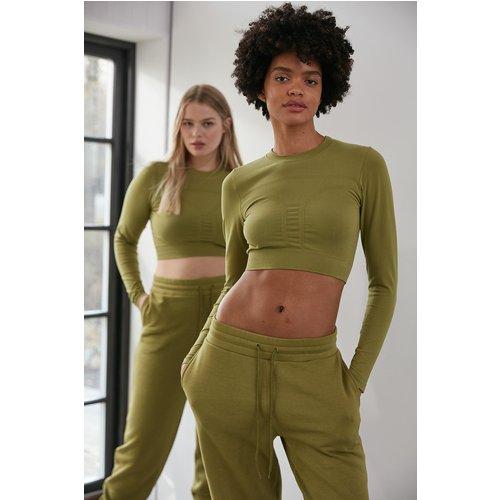 Sans Couture Top Manches Longues - Green - NA-KD Flow - Modalova