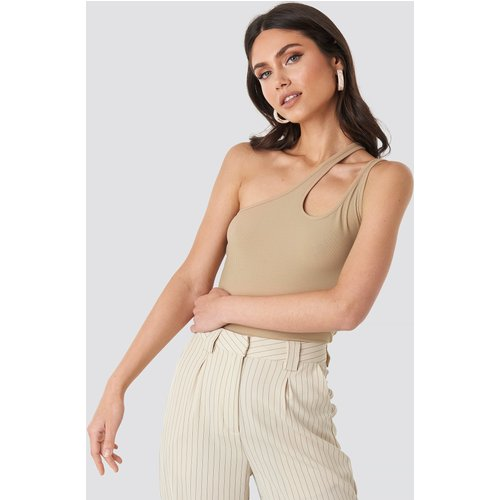 Side Striped Top - Beige - NA-KD Trend - Modalova