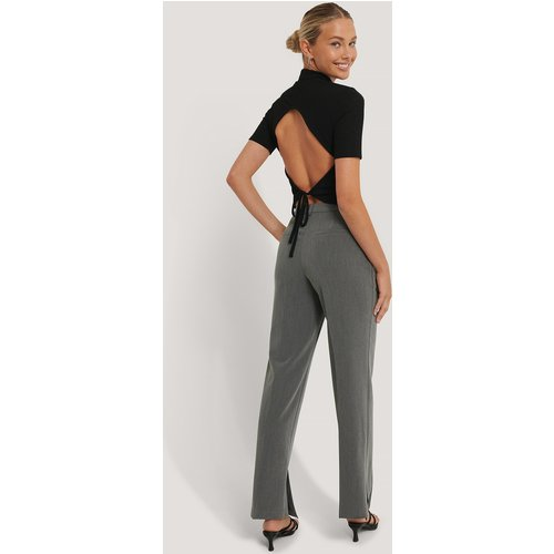 Pantalon Ajusté À Fente Latérale - Grey - NA-KD Classic - Modalova