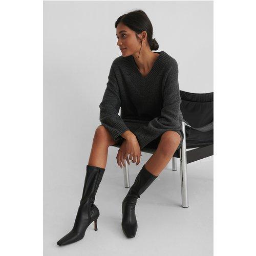 Bottes Fines À Bouts Longs - Black - NA-KD Shoes - Modalova