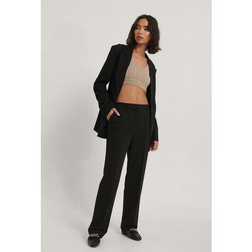 Pantalon Droit Taille Mi-Haute - Black - NA-KD Reborn - Modalova