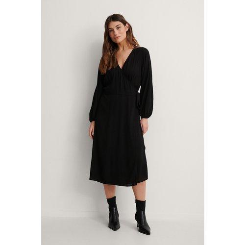 Robe Midi Portefeuille - Black - NA-KD Boho - Modalova