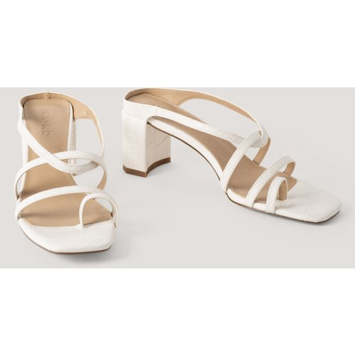 Sandale Talon Haut - White - NA-KD Shoes - Modalova
