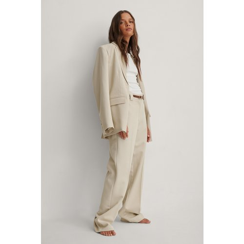 Pantalon De Costume Classique - Beige - NA-KD Classic - Modalova