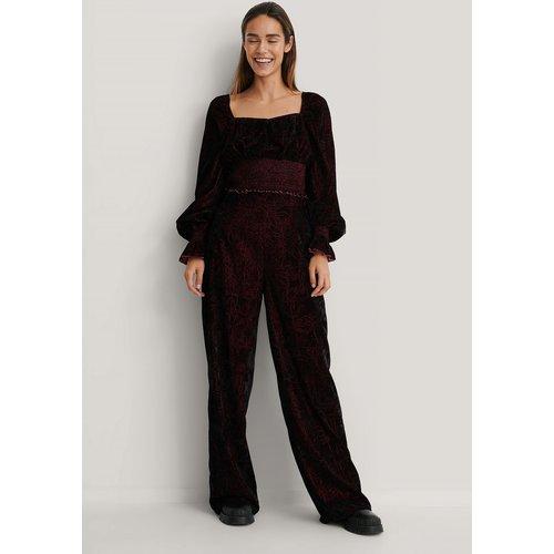 Pantalon Velours - Burgundy - NA-KD Trend - Modalova