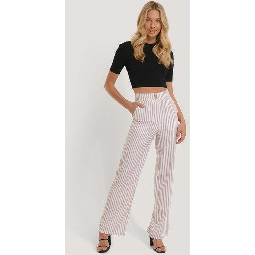 Pantalon Large Fluide - White,Beige - NA-KD - Modalova