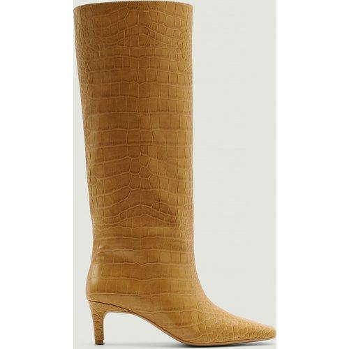 Bottes À Tige Large - Beige - NA-KD Shoes - Modalova