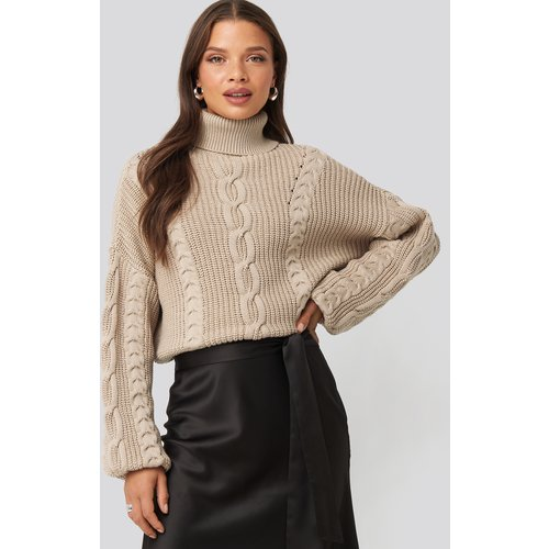 Drop Shoulder Knit - Beige - Nicci Hernestig x NA-KD - Modalova