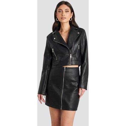 Pu Zipper Skirt - Black - Nicole Mazzocato x NA-KD - Modalova