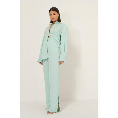 Pantalon Décontracté - Turquoise - Selma Omari x NA-KD - Modalova