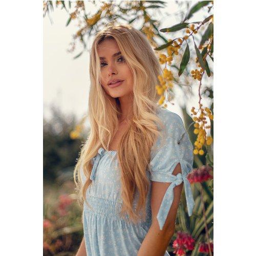 Robe Mini Recyclée Avec Détails Froncés - Blue - Pamela x NA-KD Reborn - Modalova