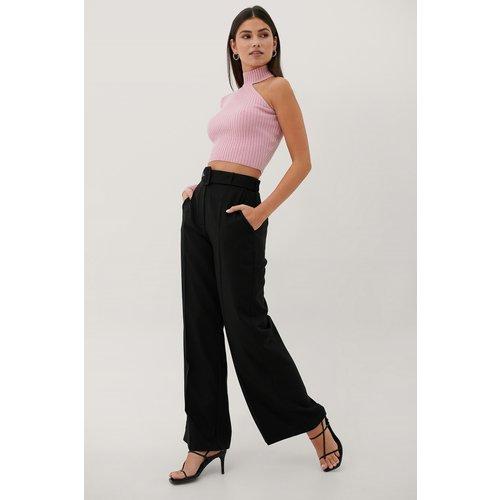 Pantalon De Costume Taille Haute - Black - Paola Locatelli x NA-KD - Modalova