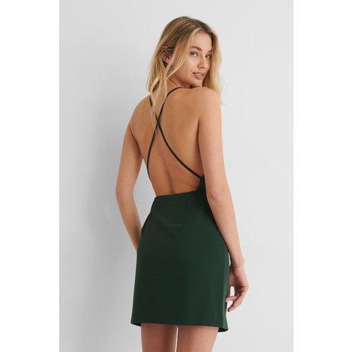 Robe Mini Croisée Dans Le Dos - Green - Paola Locatelli x NA-KD - Modalova