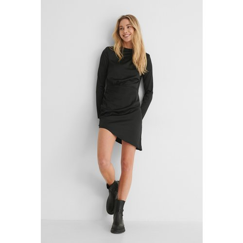 Recyclée Robe Mini À Détail Sur Les Épaules - Black - Paola Locatelli x NA-KD - Modalova