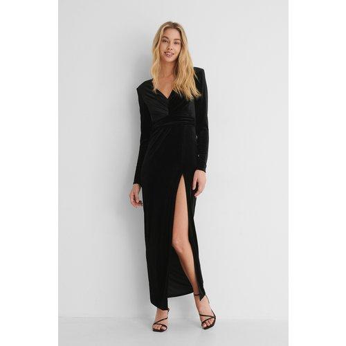 Robe Taille Marquée - Black - Paola Locatelli x NA-KD - Modalova